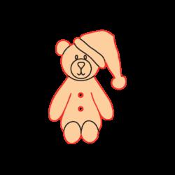 Mini Gomb Fafigura - Sapkás maci