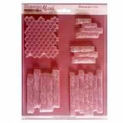 Lágy PVC öntőforma, A4 - Fa- és téglaminta