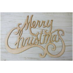 "Natúr fa - ""Merry Christmas"" felirat 48cm"