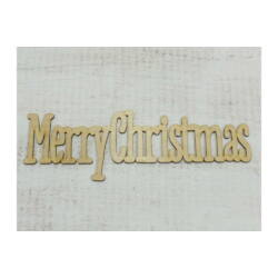 "Natúr fa - ""Merry Christmas"" felirat 31cm"