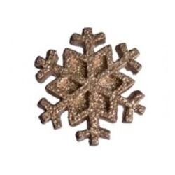Csillámos hópehely - arany