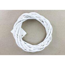 Vessző koszorú fehér 15cm