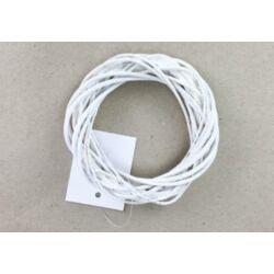 Vessző koszorú fehér 10cm