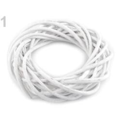 Vessző koszorú fehér 20 cm