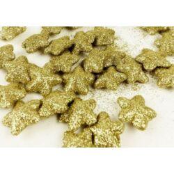 Glitteres csillag darabra, arany