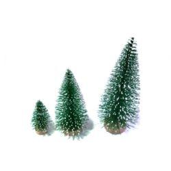 Fenyőfa mini zöld-havas 4cm