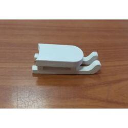 Mini szánkó, fehér 4cm