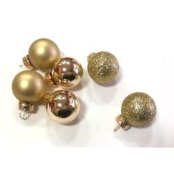 Karácsonyi gömb szett 2,5cm arany