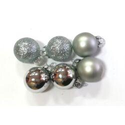 Karácsonyi gömb 2,5cm ezüst