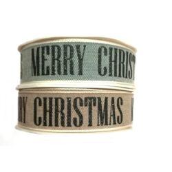 Merry Christmas szalag, 2,5cm széles