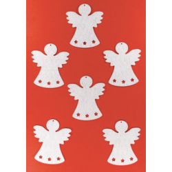 Filcfigura - Angyal csillagos
