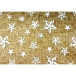 Csillag mintás juta dekoranyag centiben