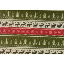 Karácsony mintás  juta dekoranyag centiben