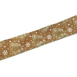 Fenyőfás glitteres szalag 3,7cm széles