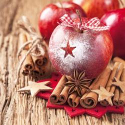 Szalvéta - Havas alma