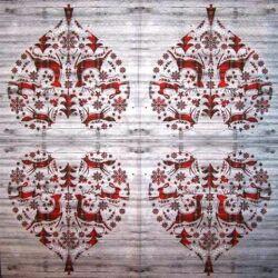 Szalvéta - Téli szív minta