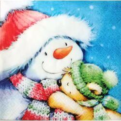 Szalvéta - Hóember macival