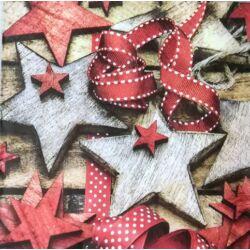 Szalvéta - Csillag dekoráció