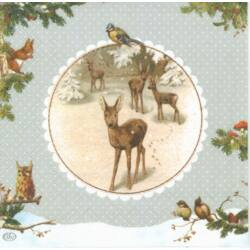 Szalvéta - Őzikék télen