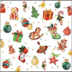 Szalvéta - Karácsonyfa díszek