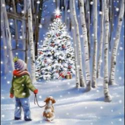 Szalvéta - Ragyogó karácsonyfa