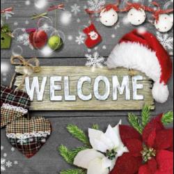 Szalvéta - Welcome Santa