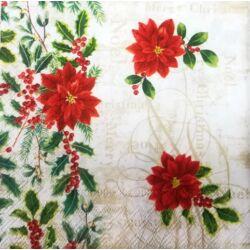 Szalvéta - Mikulásvirág
