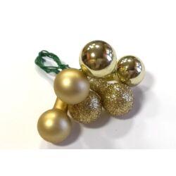 Üveggömb betűző szett arany