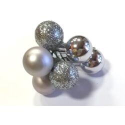 Üveggömb betűző szett ezüst
