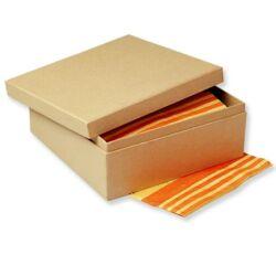 Papírmasé doboz négyzet - 19x19x8 cm