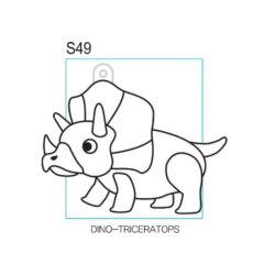 Kifesthető Triceratopsz
