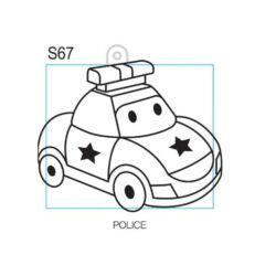 Kifesthető rendőrautó