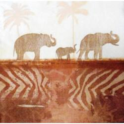 Szalvéta - Elefánt sziluett