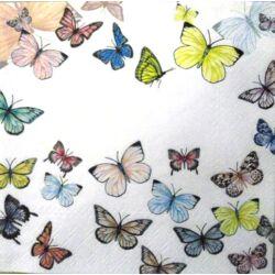 Szalvéta - Pillangós fehér
