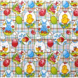 Szalvéta - Nyuszi-pipi mintás tojások
