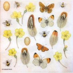 Szalvéta - Tollak és pillangók
