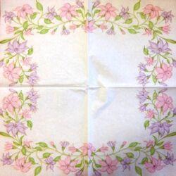 Szalvéta - Virág girland