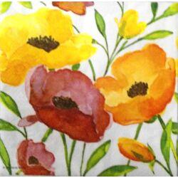Szalvéta - Aquarell virágok