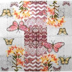 Szalvéta - Virágok, pillangók