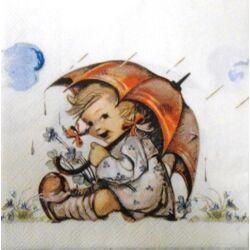 Szalvéta - Esernyős kislány