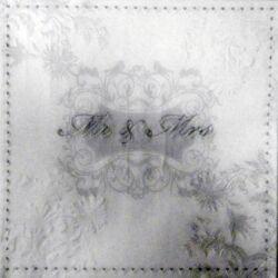 Dombornyomott Szalvéta - Mr & Mrs ezüst