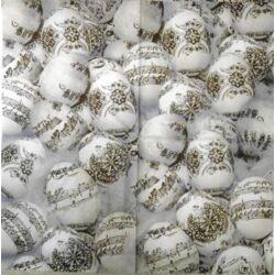 Szalvéta - Kotta mintás tojások