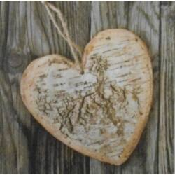 Szalvéta - Fakéreg szív