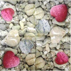 Szalvéta - Szív alakú kövek