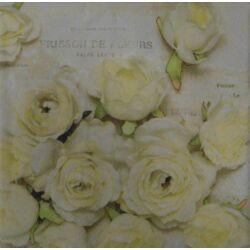 Szalvéta - Fehér rózsacsokor