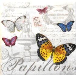 Szalvéta - Pillangós, kottás, feliratos