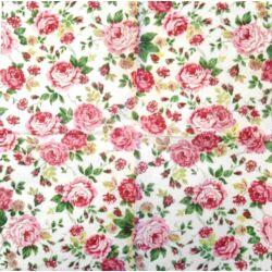 Szalvéta - Rózsás szövetminta