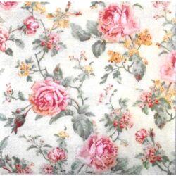Szalvéta - Rózsák, angol stílus