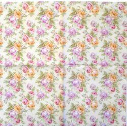 Szalvéta - Rózsás tapéta