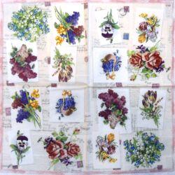 Szalvéta - Virágcsokrok